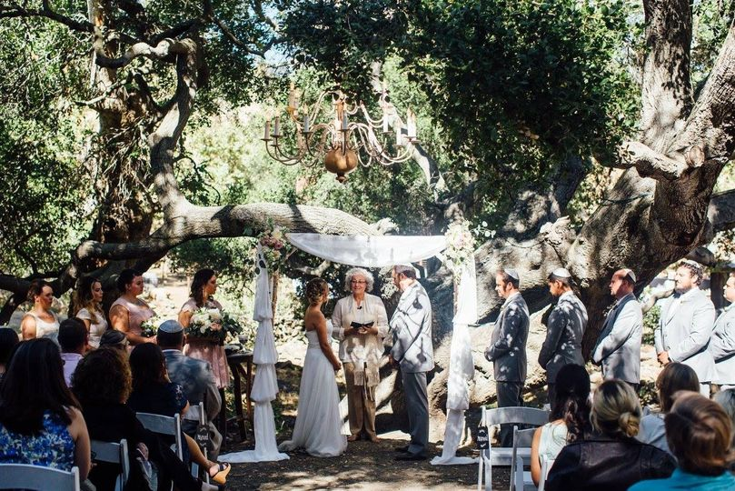 Ceremony by the woods