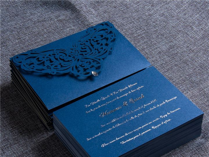 Tmx Silver Foil Stamping 51 1025929 Englewood, New Jersey wedding invitation