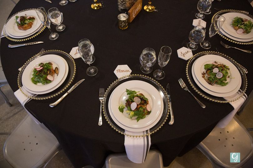 Opulent guest table setup