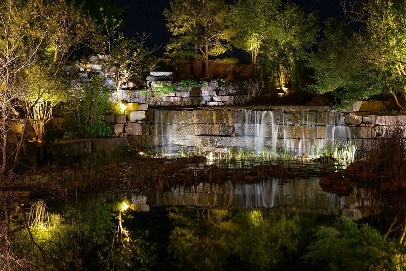 Custom waterfall lighting options