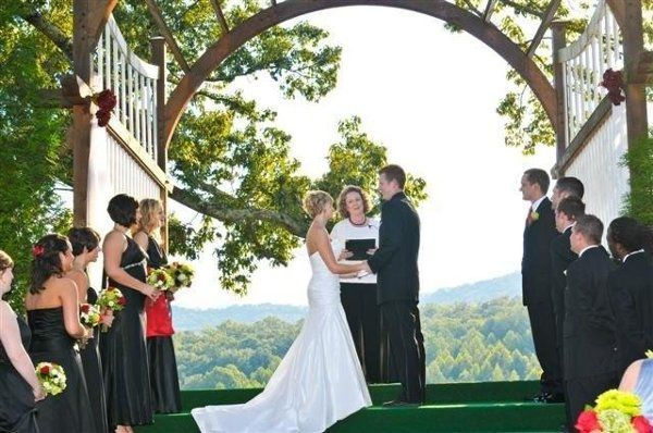 Kingwood Resort - Clayton, GA Wedding Ceremony in progress - http://WeddingWoman.net