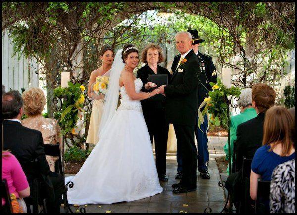 Wedding Ceremony in progress - Twigs Tempietto - Greenville, SC - http://WeddingWoman.net