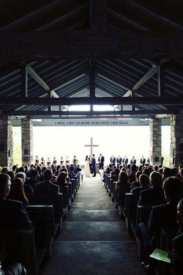 "- Wedding Ceremony in progress - Symmes Chapel ""Pretty Place"" Cleveland, SC - www.WeddingWoman.net"