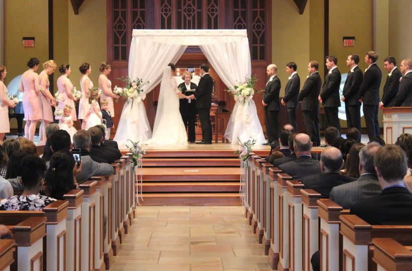 Interfaith - Christian / Jewish Wedding Ceremony in Progress - Daniel Chapel at Furman University...