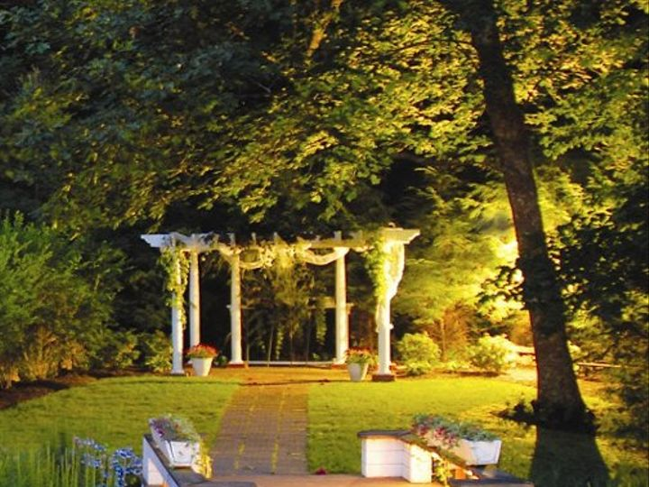 Tmx 1243660077406 MeadowBrookInnCeremonyAreaAtDusk Charlestown, RI wedding venue