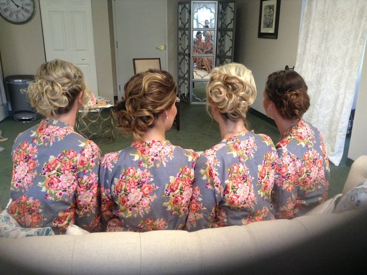 Bridesmaids' hairdos