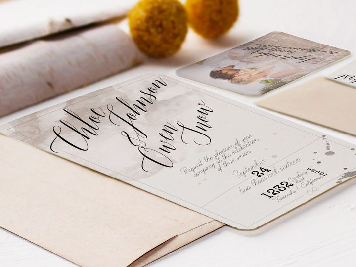 Tmx 1448418480902 2016 Two Temecula wedding invitation
