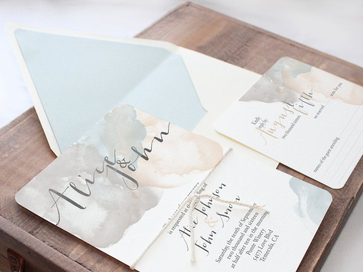 Tmx 1448418709384 Watercolor Temecula wedding invitation