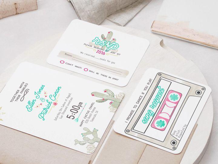 Tmx 1466908563761 Standard Invite Cactus Temecula wedding invitation