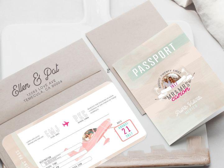 Tmx 1468249735258 Passport3 Temecula wedding invitation