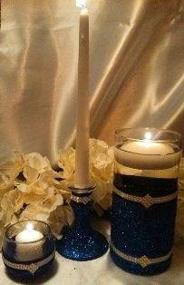 candle holder navy set
