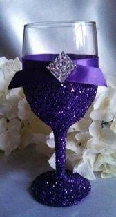 wine glass purple