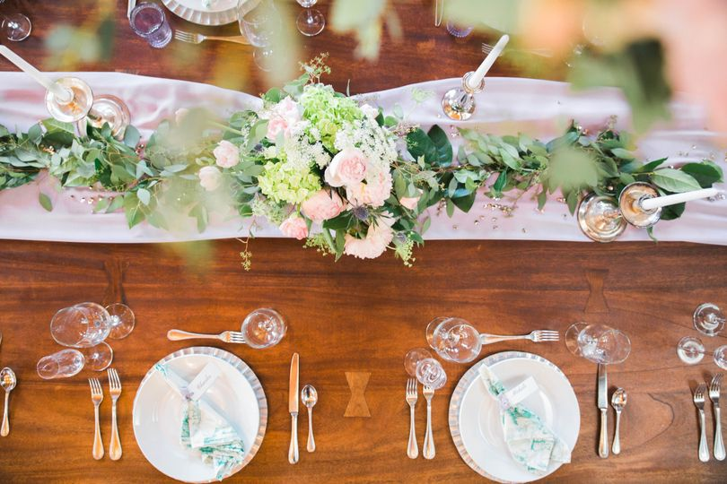 tablescape with place settings