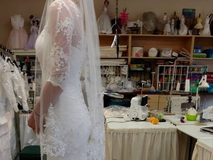 Tmx 1487275967865 Costum Cathedral Veil Greenwood, Indiana wedding dress