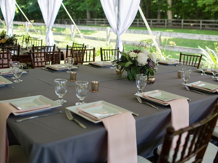 Tmx 1503935747388 Widetablescharcoallinens01 Chestertown, Maryland wedding rental