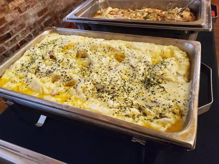 Garlic red mashed potatoes