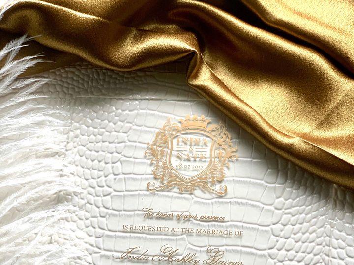 Tmx Clear Acrylic On Croc 3 51 1940039 158268354163546 Slidell, LA wedding invitation