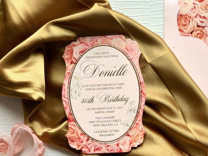 Tmx Pink Rose 2 51 1940039 158268363862387 Slidell, LA wedding invitation
