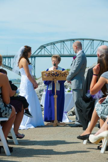 Wedding by the water
