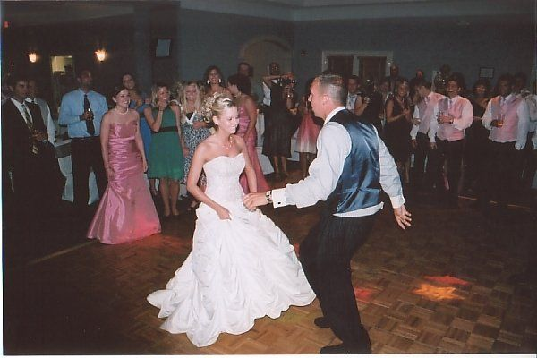 the last dance of matt n kasey's reception was a soul train dance off.