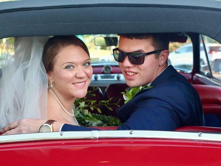 Tmx 1532627935 5f6675e4264c2147 Amber And Brent In Car 2 Winston Salem, NC wedding dj