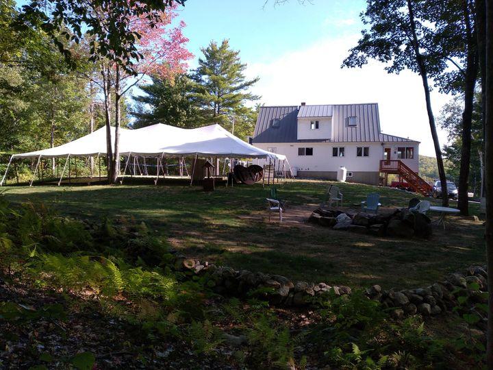 Tented Backyard Receptions