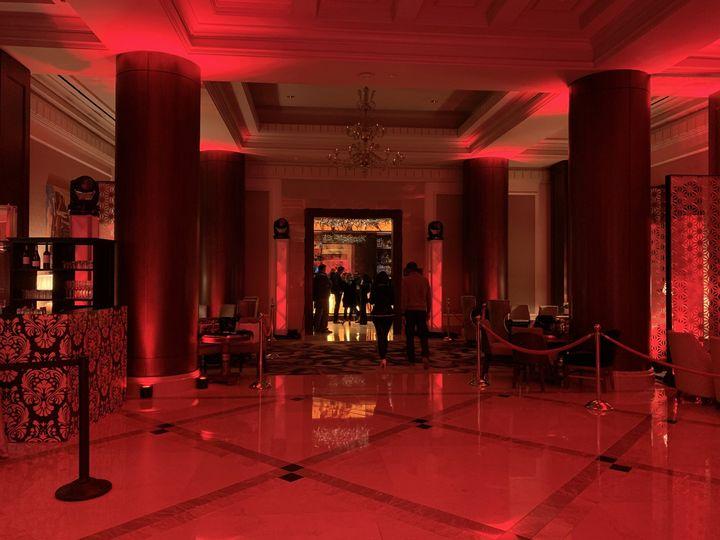 Uplighting at The Ritz Dallas