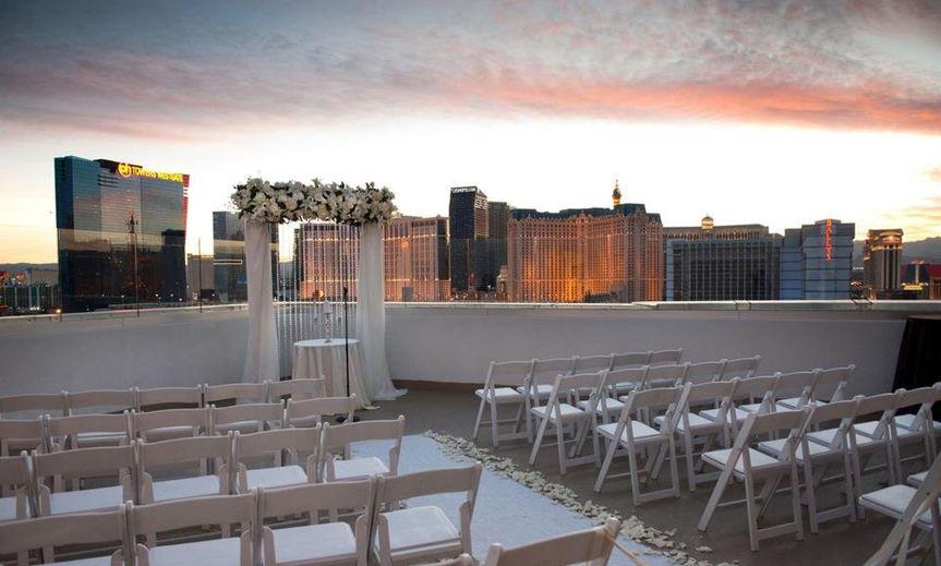 Rooftop wedding setup