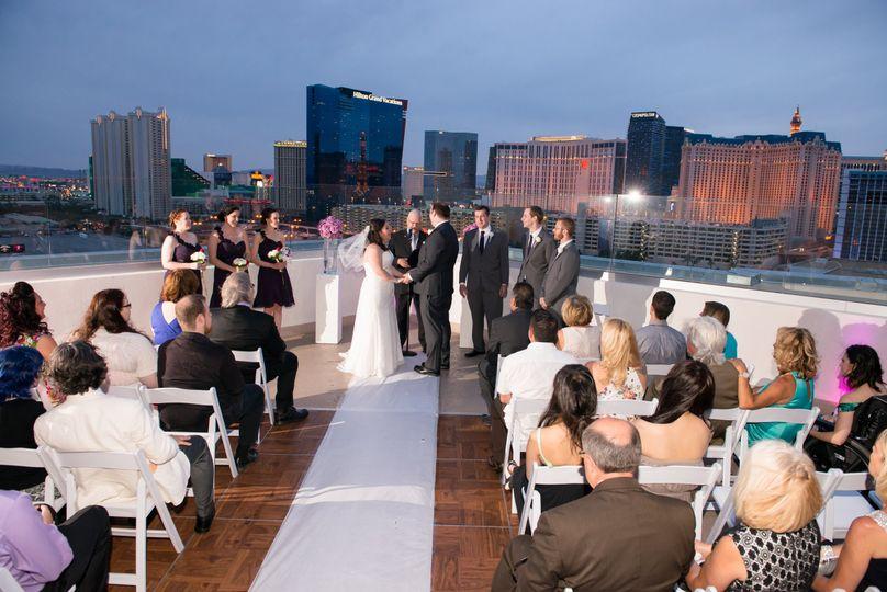 Rooftop wedding space