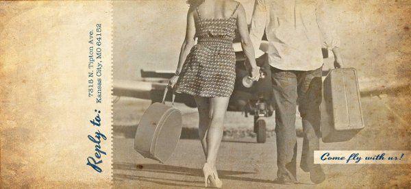 Brossie Belle Vintage Plane Ticket Invitation