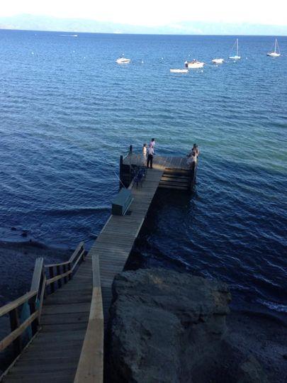 Private lakeshore venue with dock