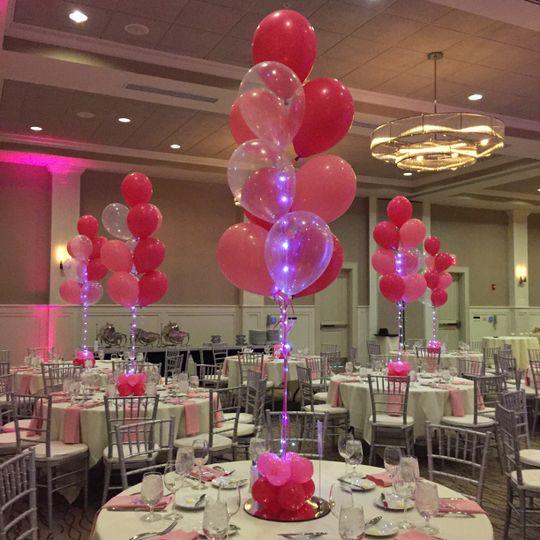 Balloon bouquet centerpieces