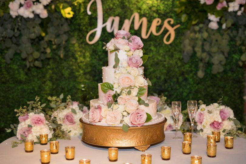 A gorgeous cake display
