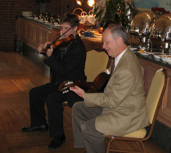 The Williams Duo performing at the Sanctuary Hotel, Kiawah Island SC