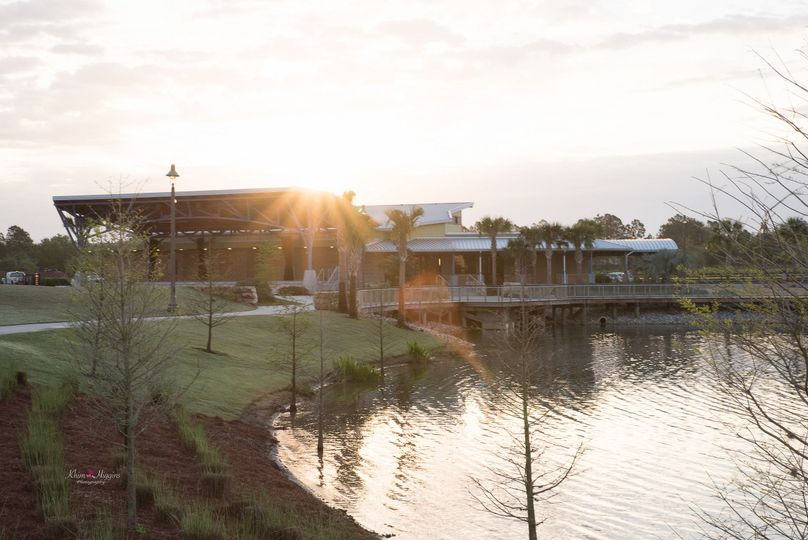 Oviedo Center Lake Park Amphitheatre and Cultural Center overlooking the stunning lake at Oviedo on...