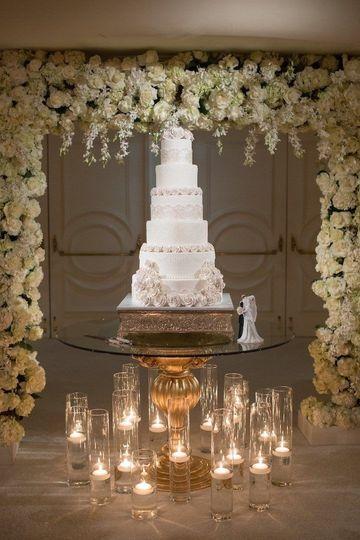 Flower tall tier cake