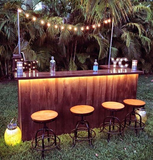 Rustic bar with lightsHutchinson Island
