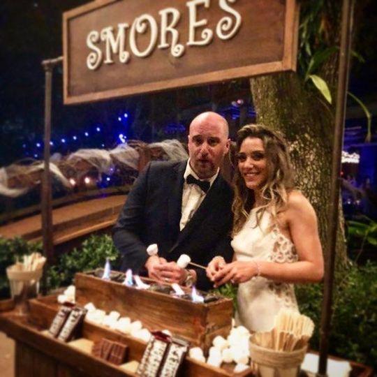 S'mores Bar Bride and GroomLiving Sculpture Sanctuary Davie
