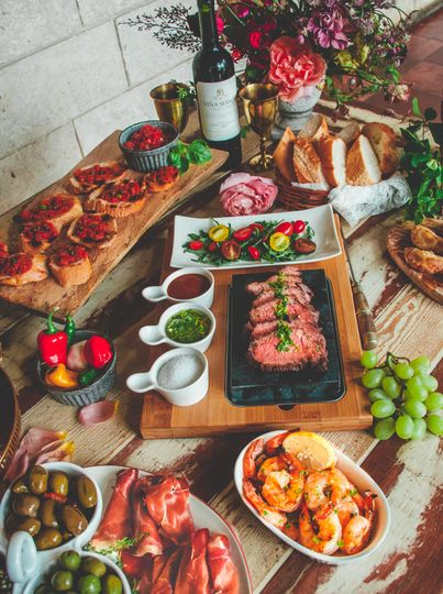 Delicious tapas table