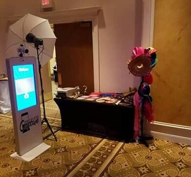 Photo booth area