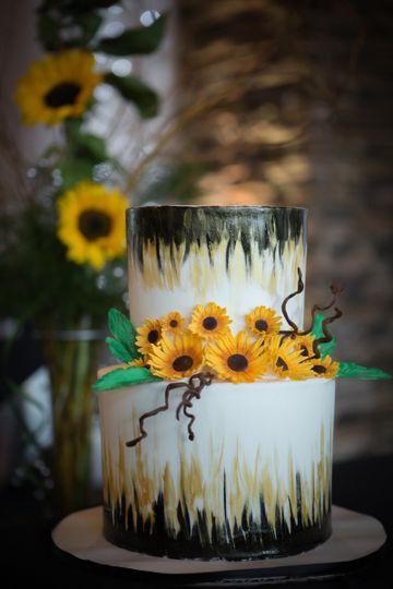Sunflower theme cake