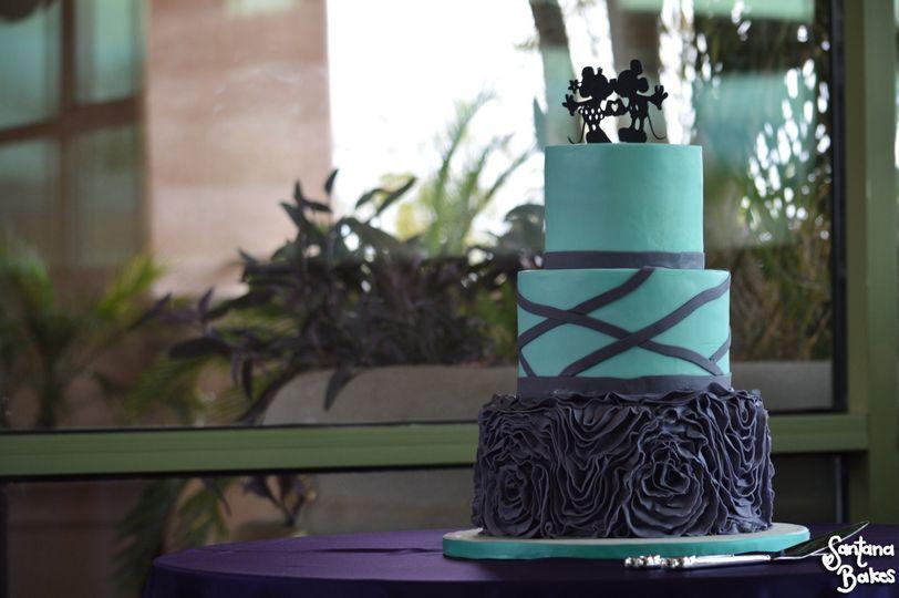 Sky blue cake