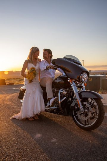 Motorcyle wedding Route 66 HD