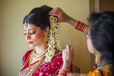 Arranging hair