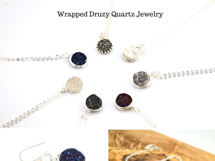 Tmx 1481826475926 Wrapped Druzy Quartz Jewelry Windham wedding jewelry