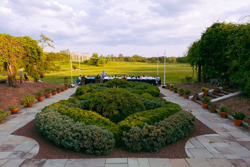 Beautiful intimate wedding receptions in the Arboretum's Herb Garden