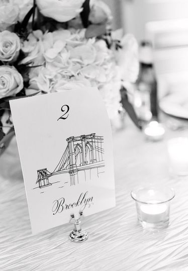 Custom illustrations for table cards