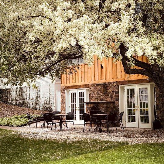 Lodge entrance & patio