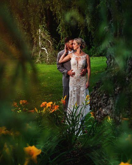 Mr. & Mrs. in the garden
