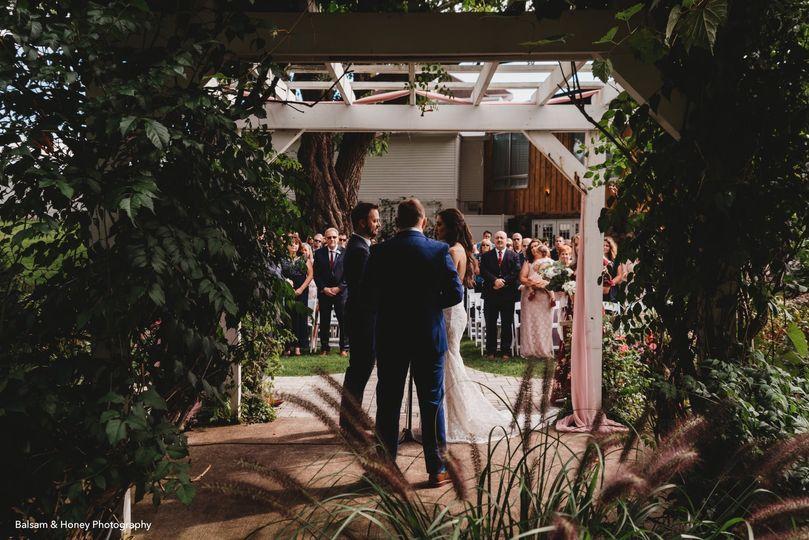 Vows under the trellis